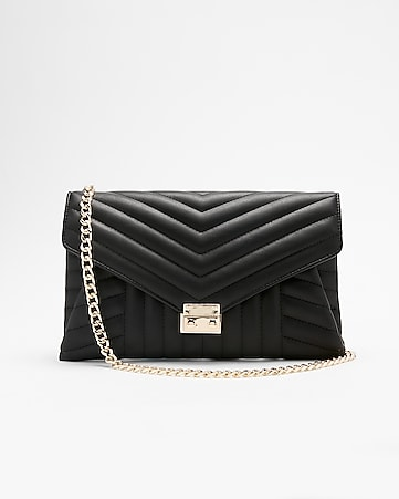Express View Front Lock Quilted Clutch