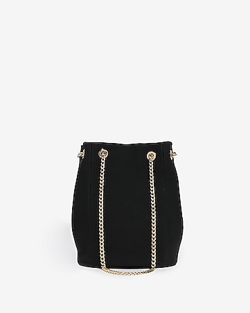 Express View Chain Handle Bucket Bag