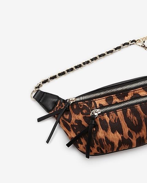 ddd5081a01fd Leopard Print Chain Strap Belt Bag   Express
