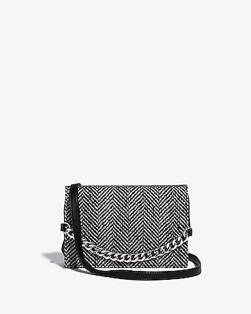 Express View Fabric Flap Chain Bag