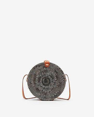 7b939c8c45 street level circle woven crossbody bag. EXPRESS VIEW