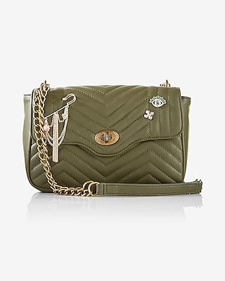 Pin Embellished Quilted Shoulder Bag | Express
