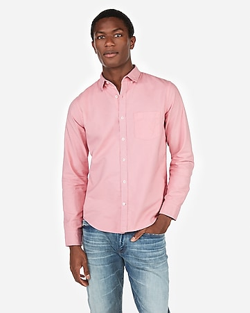 45c2f921d44 Express View · slim soft wash garment dyed oxford shirt