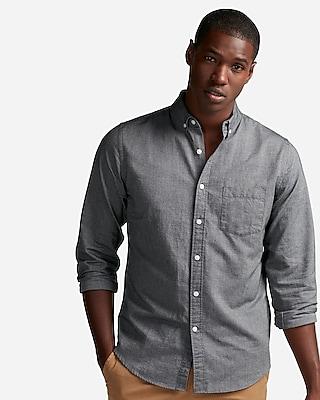 Soft Wash Yarn Dye Oxford Shirt | Express