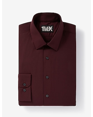 Maroon colored dress shirts