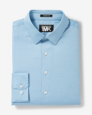 Express.com deals on Express Mens Modern Fit Easy Care Diagonal Dobby 1mx Shirt