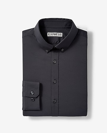 c6af29192f7 Express View · slim solid button-down wrinkle-resistant performance dress  shirt