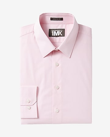 athletic fit textured 1MX dress shirt