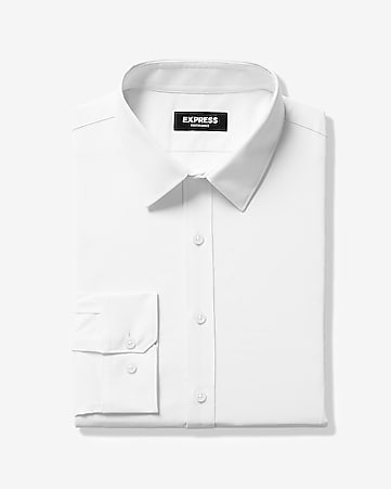 cf4764a153d Express View · slim solid wrinkle-resistant performance dress shirt