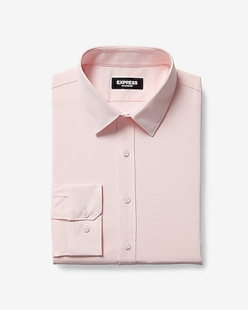 eb845c8b Express View · slim solid wrinkle-resistant performance dress shirt
