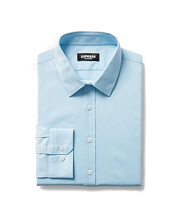 7f13f5c8 Express View · extra slim solid wrinkle-resistant performance dress shirt