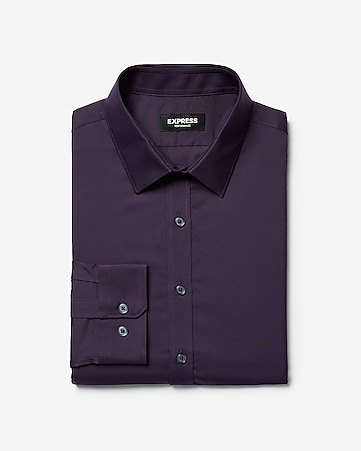 9c4fa8dceccf4b Express View · extra slim solid wrinkle-resistant performance dress shirt