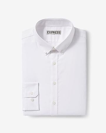 666e2aca72b2 Express View · extra slim solid button-down wrinkle-resistant performance dress  shirt