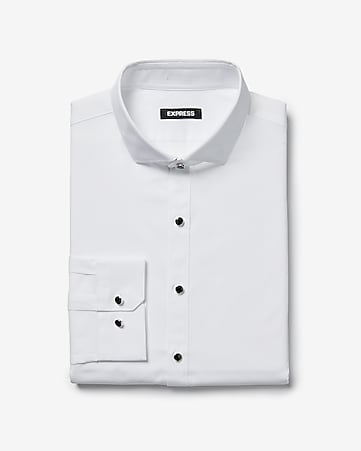 877bf39c9e Express View · slim shank button tuxedo shirt