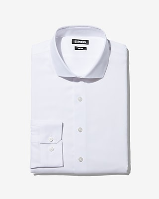 Slim Solid Non Iron Dress Shirt by Express