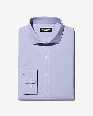 6cce03783425 Express View · extra slim spread collar solid wrinkle-resistant performance  dress shirt