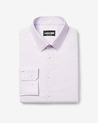 express slim solid stretch cotton 1mx dress shirt purple