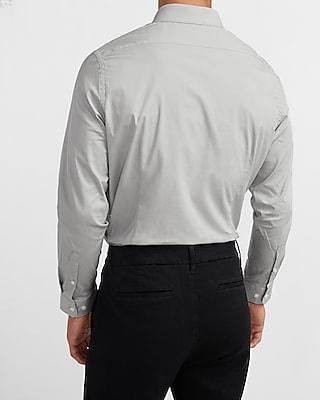 express extra slim solid stretch cotton 1mx dress shirt gray