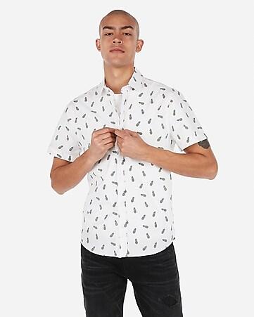 9fd930577ee9 Men's Shirts - Short Sleeve Button Up Shirts - Express