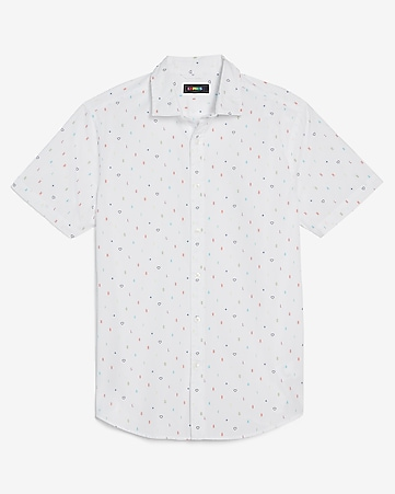 Men S Shirts Short Sleeve Button Up Shirts Express