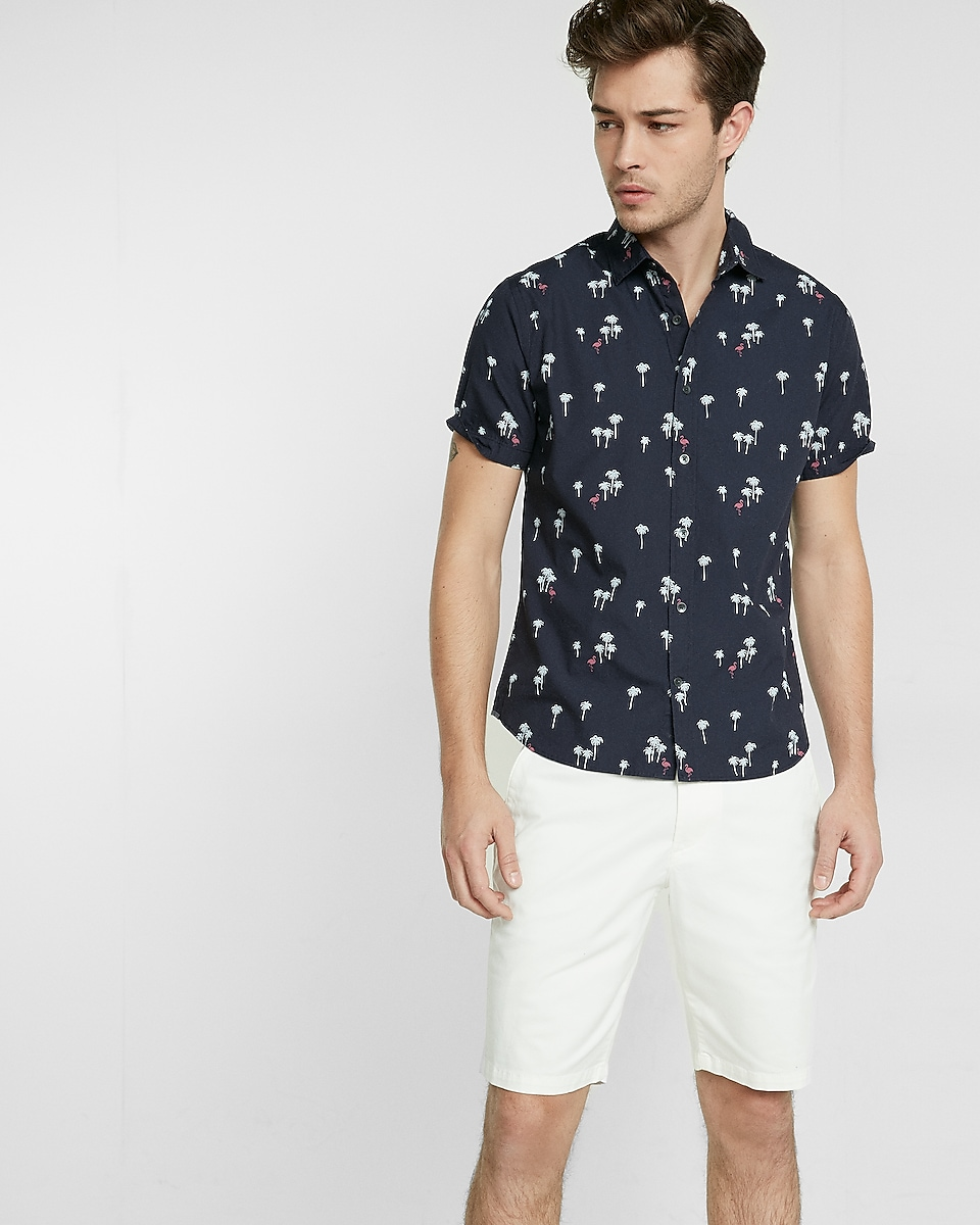 Tropical short sleeve button up shirt for Short sleeve button up shirts