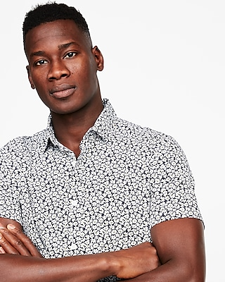 slim-floral-short-sleeve-shirt by express