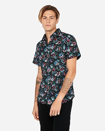 c2f0120e2b Men's Shirts - Short Sleeve Button Up Shirts - Express