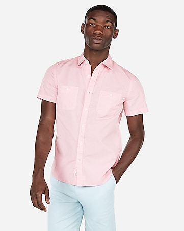 Express View Solid Short Sleeve Shirt