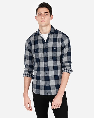 b374eb3b190 Express View · plaid flannel shirt