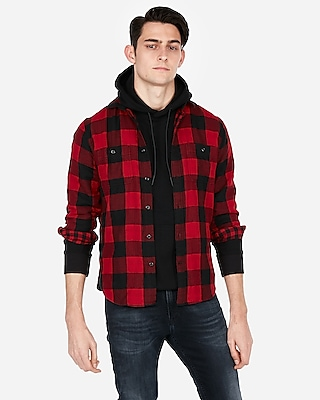 Plaid Flannel Shirt by Express