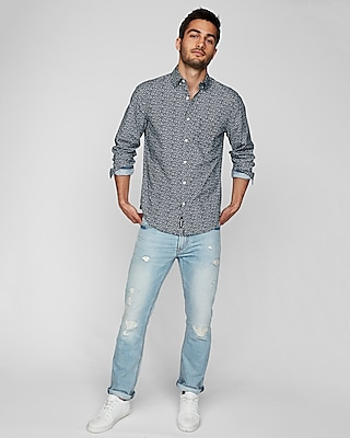 Slim Floral Soft Wash Shirt by Express