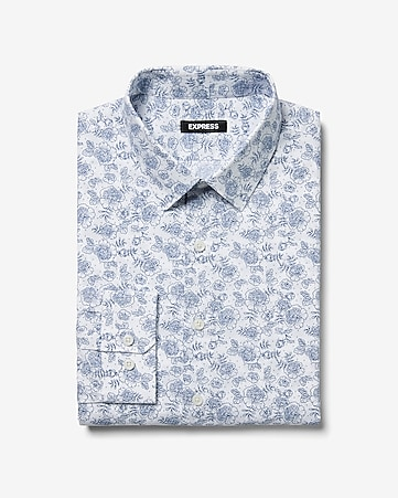 Classic Floral Dress Shirt by Express