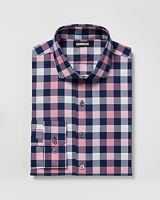 slim-check-print-shirt by express