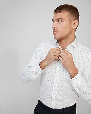 Classic Fit Micro Dot Dress Shirt by Express