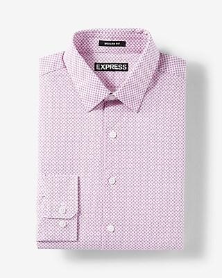Express.com deals on Express Mens Modern Fit Micro Dot Print Cotton Dress Shirt