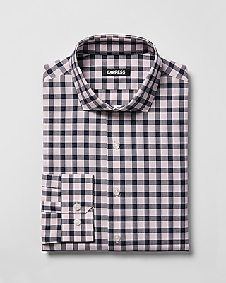 slim-plaid-spread-collar-dress-shirt by express