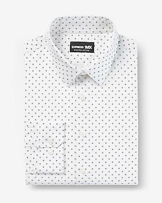 Extra Slim Geo Print Stretch Cotton 1MX Dress Shirt