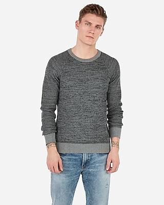 Express.com deals on Express Mix Stitch Crew Neck Sweater