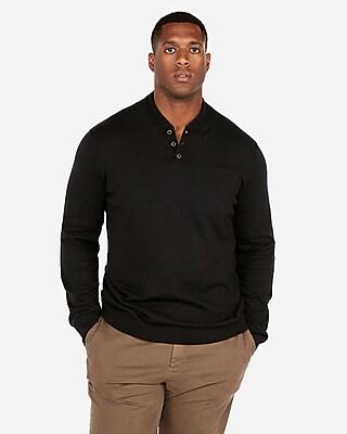 Mock Neck Baseball Henley Sweater Express