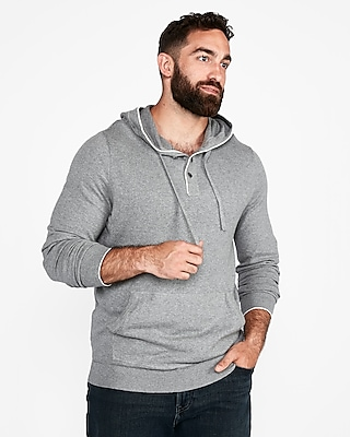 Express.com deals on Express Henley Hooded Popover