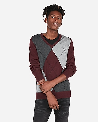 Express.com deals on Express V-Neck Argyle Sweater
