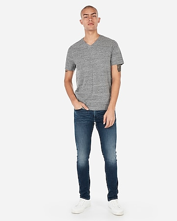 231c66ec36644 Express View · short sleeve heathered v-neck t-shirt