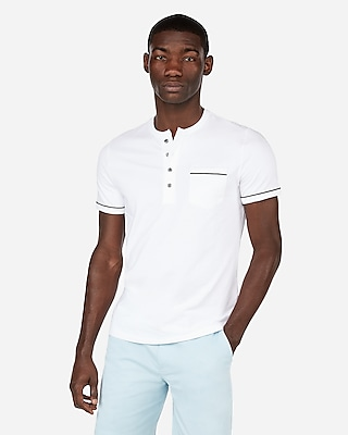 Moisture Wicking Signature Piped Pocket Henley by Express