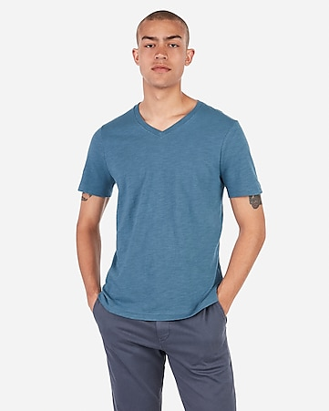 3c6bdf906 Express View · slub v-neck t-shirt