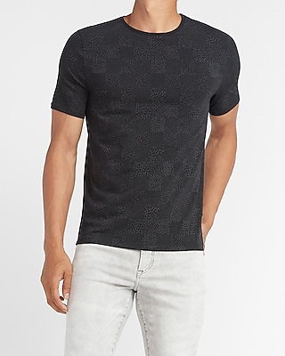 express checkerboard moisture wicking performance t shirt black