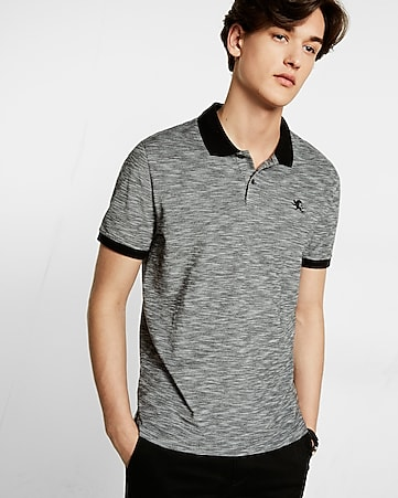 14877592dc5 Express View · textured small lion pique polo