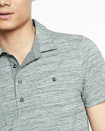 marled welt pocket signature polo