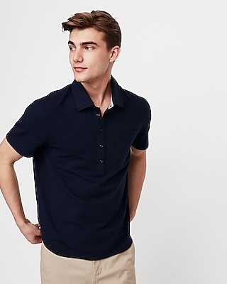 Express View · popover moisture-wicking stretch polo