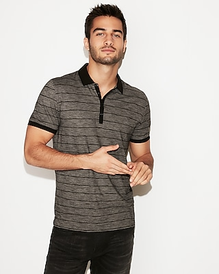 Express View � supersoft thin stripe jersey polo