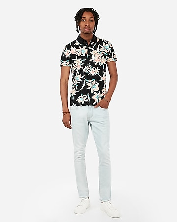 c7ff99acc6 Express View · tropical floral moisture-wicking performance polo